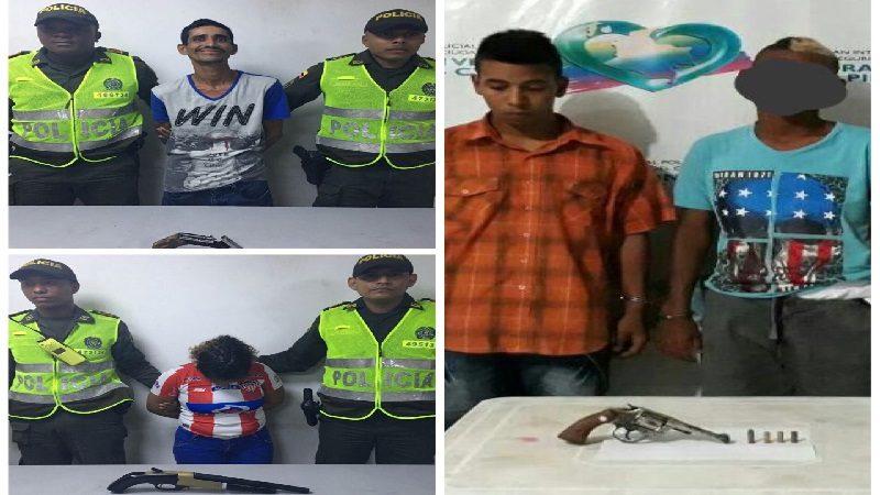 Policía capturó a cuatro atracadores cerca al cementerio Calan Cala y en el barrio La Pradera