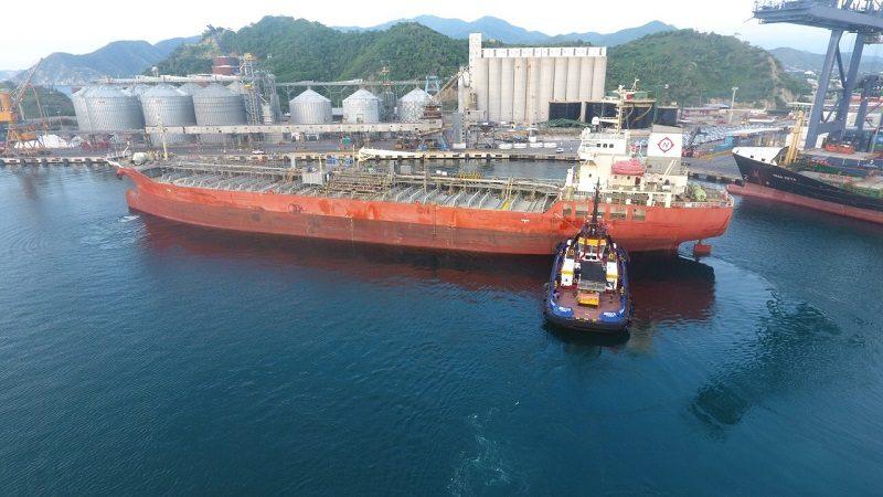 Puerto de Santa Marta registra récord histórico en movilización de graneles líquidos 1