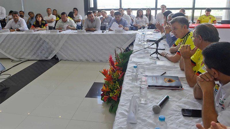 Santos aprueba 13 proyectos por más de $300 mil millones para la región Caribe