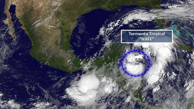 Tormenta Nate llega este domingo a México tras dejar 22 muertos en Centroamérica