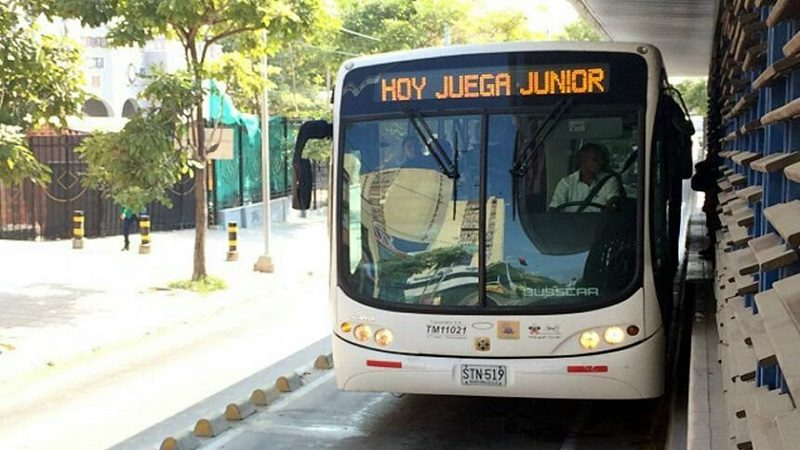 Transmetro prepara operación especial por partido Junior - Santa Fe