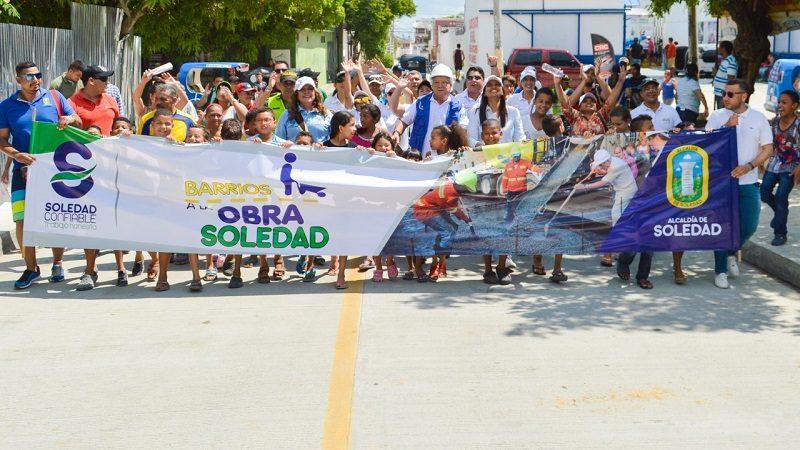 Alcaldía de Soledad entrega tramo vial y avanza en los 22.5 kilómetros de pavimento