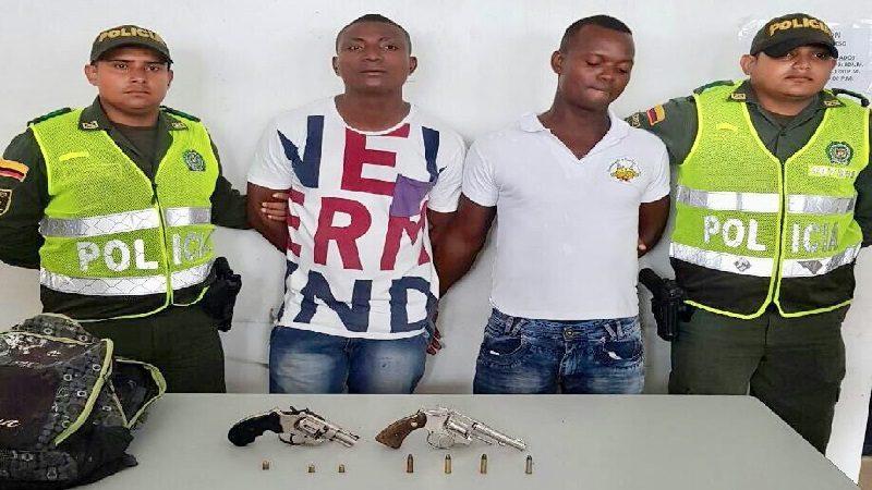 Caen dos fleteros con antecedentes judiciales en el centro de Barranquilla
