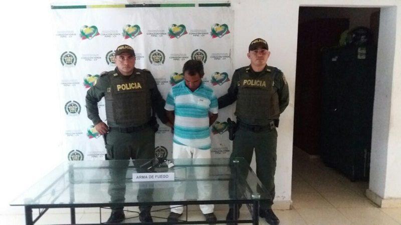 Capturan a alias el 'Peque', con un revólver en el municipio de Ponedera