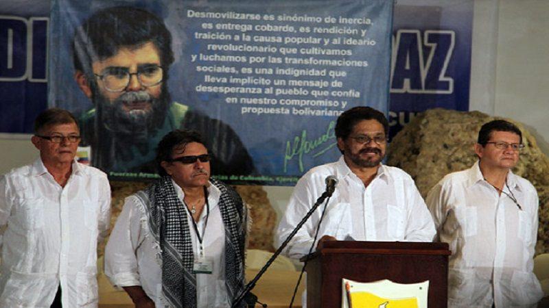 Delegacion de las FARC-Ep, a los dialogos de Paz. Foto: Ismael Francisco/Cubadebate.