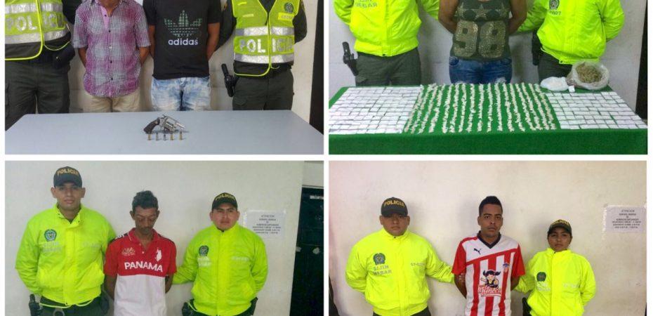 Policía captura a tres vendedores de droga y dos atracadores en Barranquilla