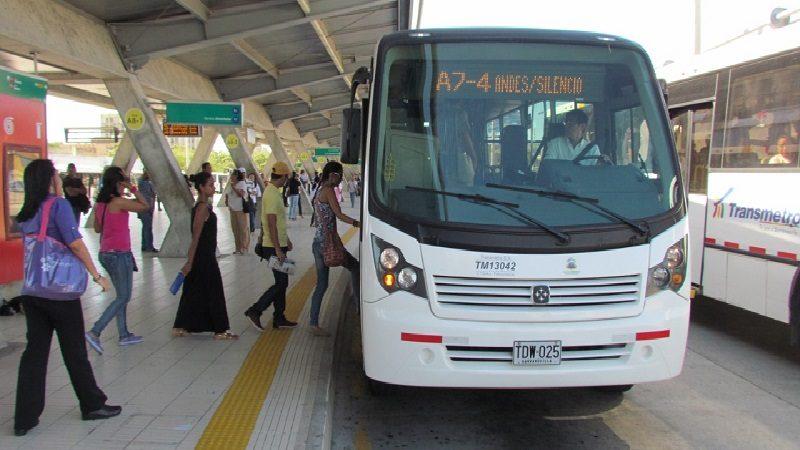 Transmetro aplica nuevo desvío a rutas A7-3 Carrera 38 y A7-4 Los Andes