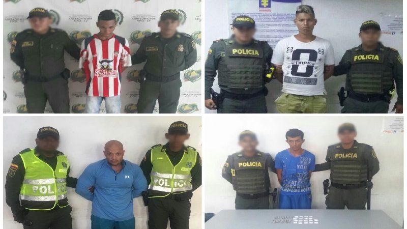 Capturan a cuatro personas por diferentes delitos en Barranquilla y Soledad