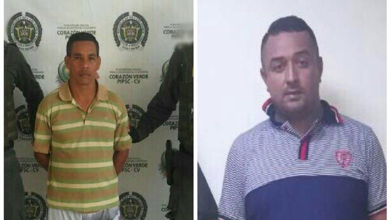 Capturan a dos hombres eran buscados por los delitos de hurto y porte ilegal de armas
