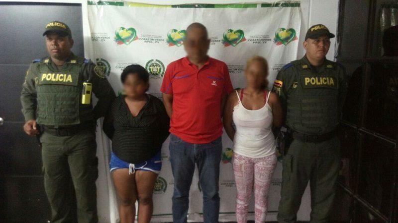 Capturan a tres personas por invadir un terreno en el municipio de Sabanagrande