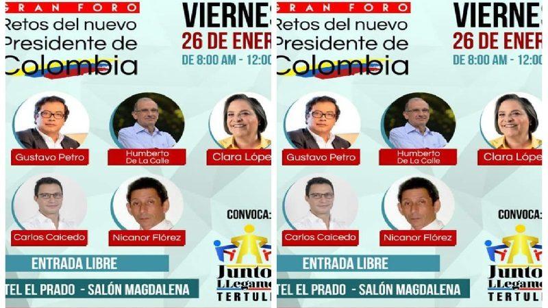 Este viernes 26 de enero en Barranquilla, foro 'Retos del nuevo Presidente de Colombia'
