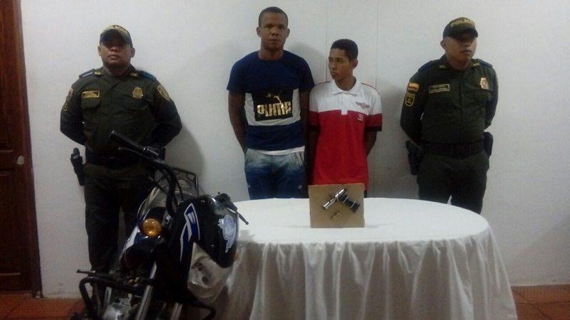 Policía capturó a dos atracadores en Campo de la Cruz, Atlántico
