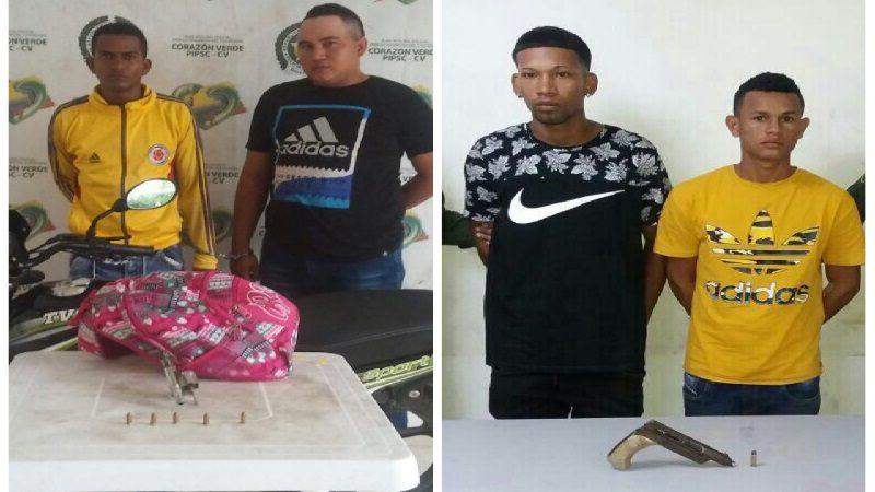 Policía captura a cuatro atracadores en Barranquilla y Soledad, armados con pistola y revólver
