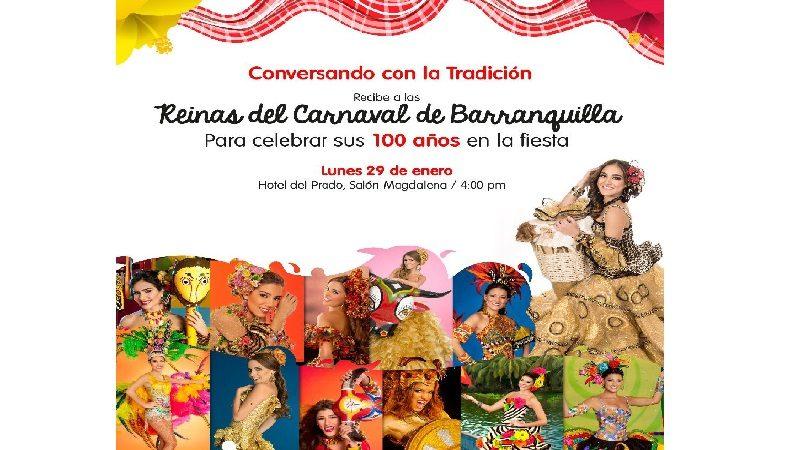 Reinas celebran sus 100 años en el Carnaval de Barranquilla