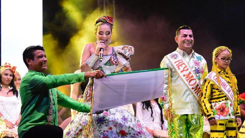 Valeria dio rienda suelta al Carnaval 2018 desde la Plaza de la Paz