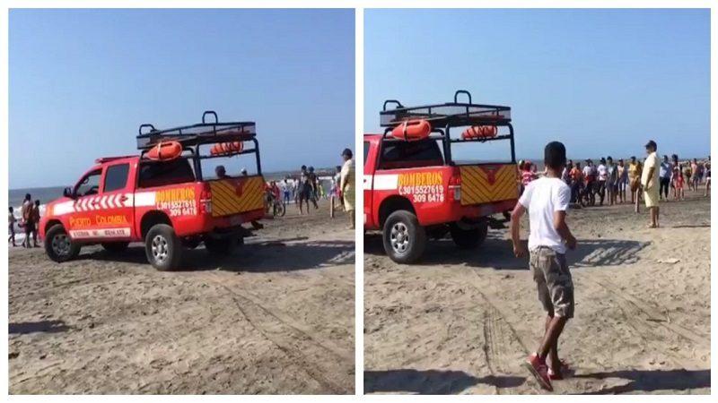 Angustioso rescate de niña que se ahogó en Puerto Colombia