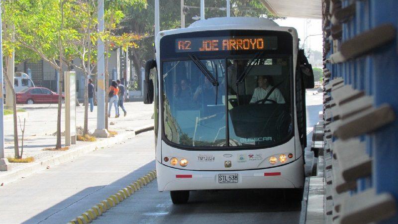 Aplican desvíos en rutas de Transmetro que operan sobre la troncal Olaya Herrera
