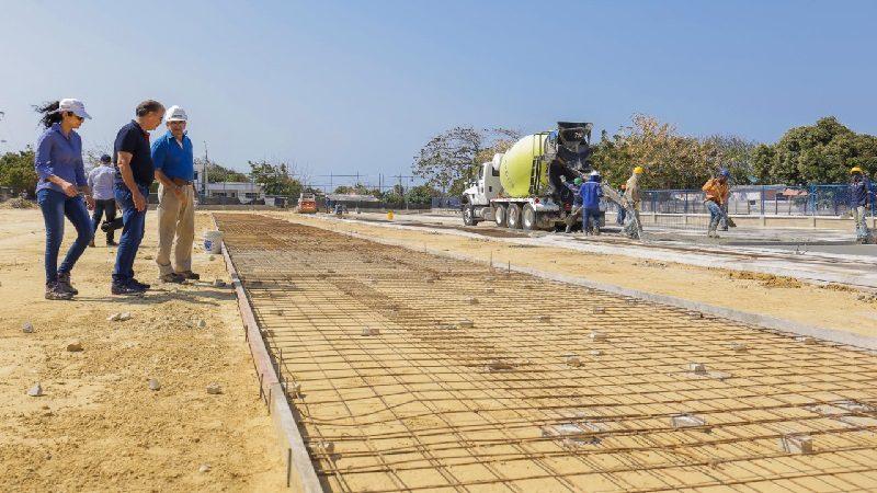 Avanzan obras de escenarios deportivos y mejoramientos de viviendas en Atlántico