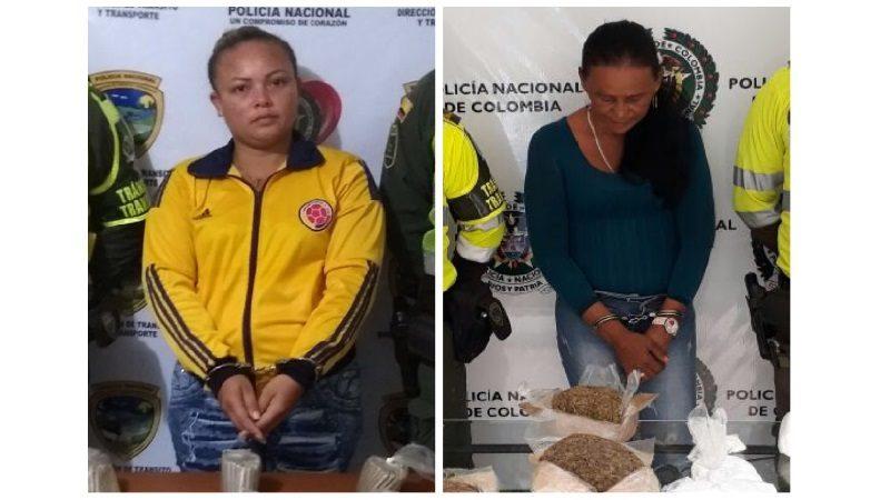 Capturan a dos mujeres con más de 5 mil dosis de droga en vías del Atlántico