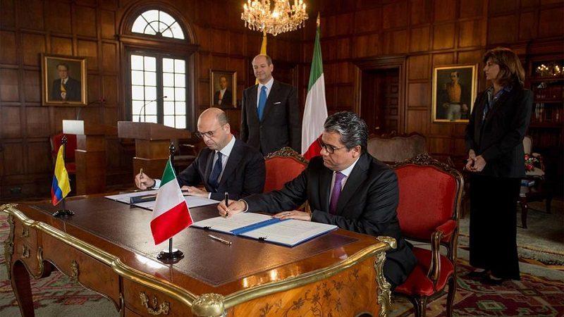 Colombia e Italia firman memorando de cooperación energética