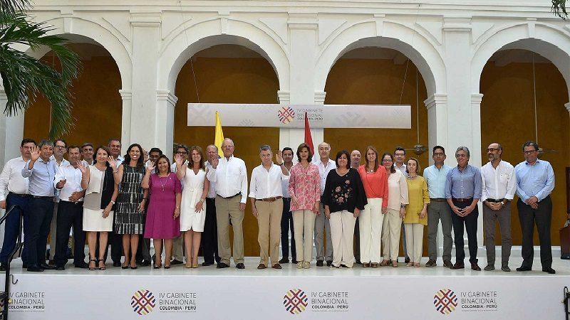 En el IV Gabinete Binacional Colombia-Perú, celebrado en Cartagena, se concretaron proyectos e iniciativas para mejorar el bienestar de los pueblos de ambos países.