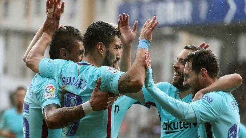 Con Yerry Mina de suplente, Barcelona venció 0-2 al Eibar