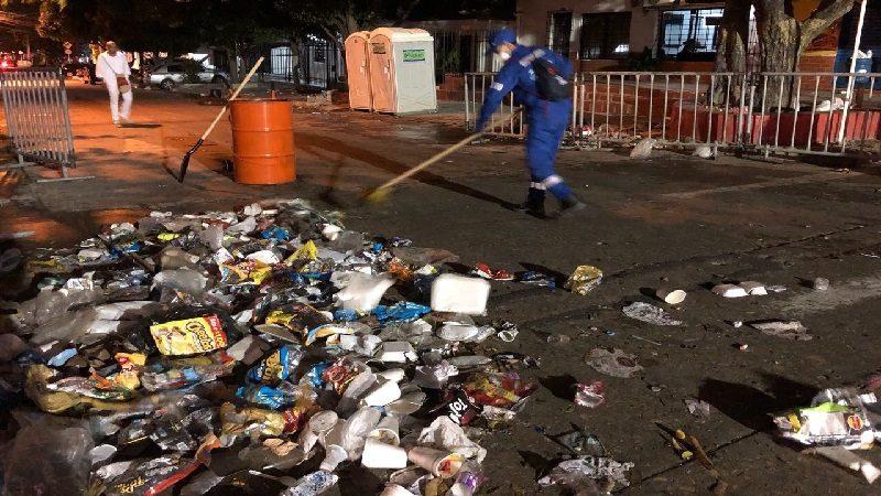 Eventos del carnaval del fin de semana dejaron 30 toneladas de basura