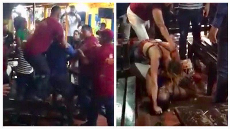 Hombre agrede brutalmente a una mujer en los 'chicharrones de la 19'