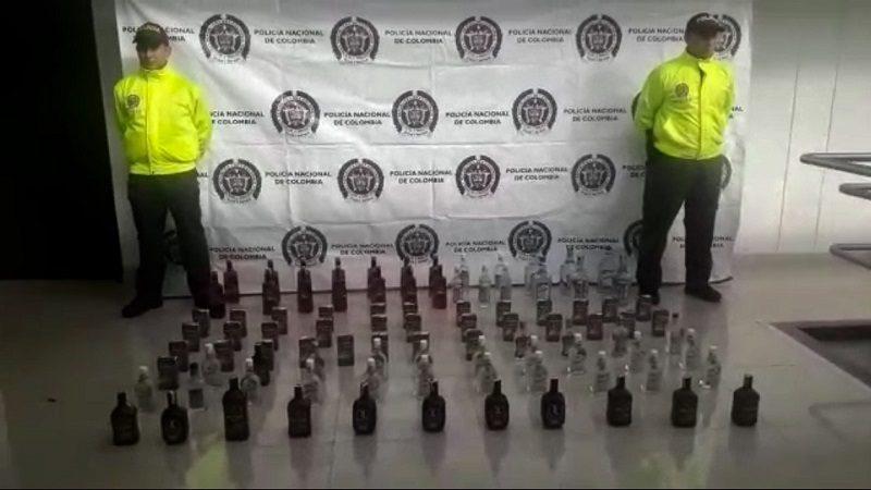 Incautan 550 botellas de licor adulterado y de contrabando que iban a vender en carnavales