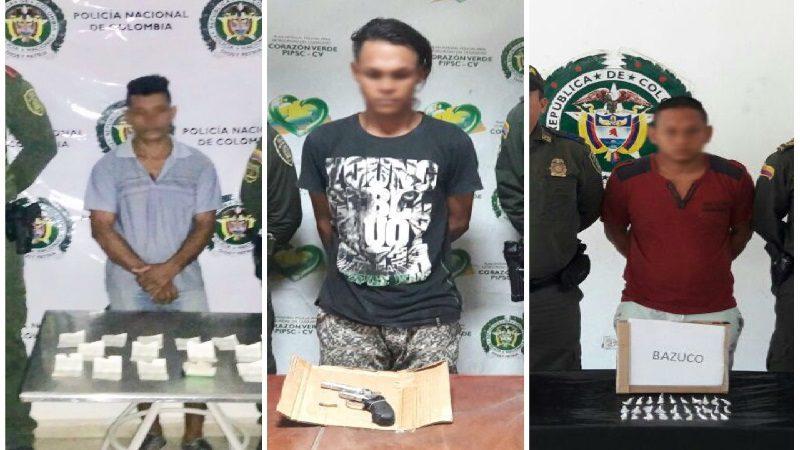 Ofensiva contra la delincuencia deja a tres capturados en Atlántico