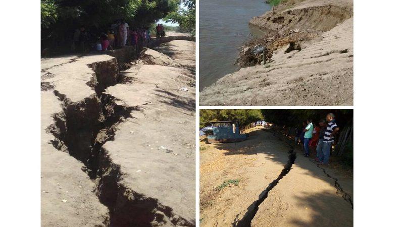 Reportan que el río Magdalena se está tragando el corregimiento de Guaimaro