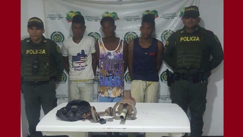 Capturaban tres hombres cuando robaban en una finca de Sabanalarga