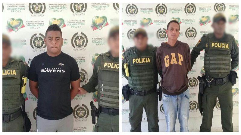 Capturan dos hombres por homicidio, tráfico de droga y hurto, en el municipio de Malambo