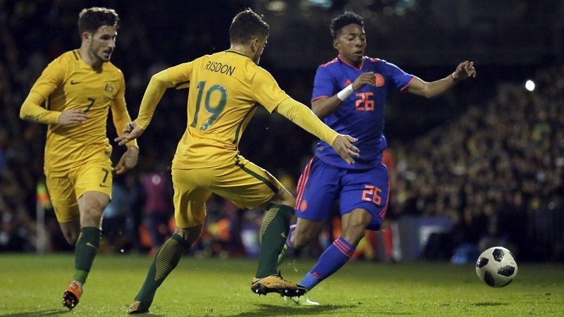 Colombia y Australia empataron 0-0 en Inglaterra