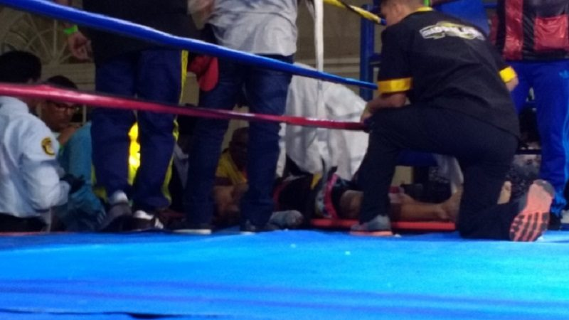 En cuidados intensivos, boxeador venezolano, tras pelea en Barranquilla