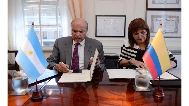 Gobiernos de Colombia y Argentina firman acuerdo de cooperación para combatir la delincuencia