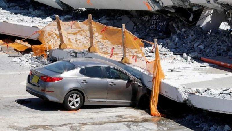 Grietas en el puente colapsado en Miami habían sido alertadas
