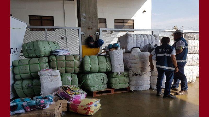 Incautan más $500 millones en confecciones de contrabando en el Puerto de Santa Marta