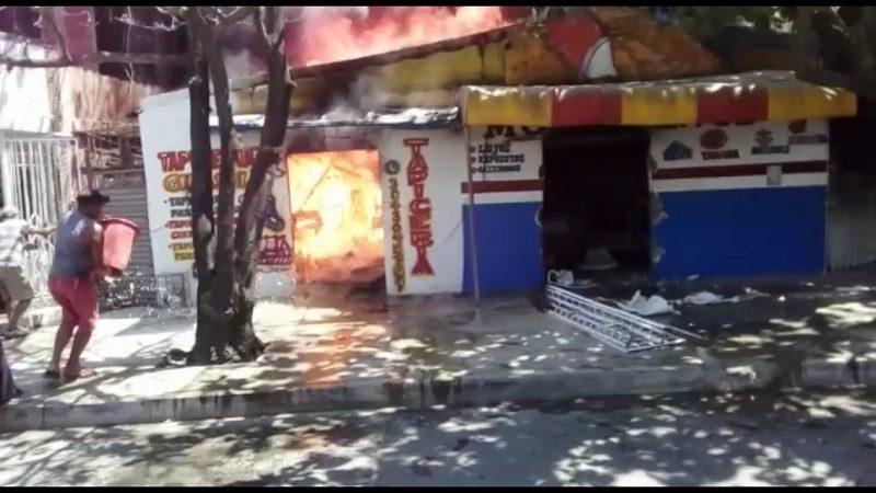 Incendio consumió una tapicería en el barrio Las Trinitarias de Soledad