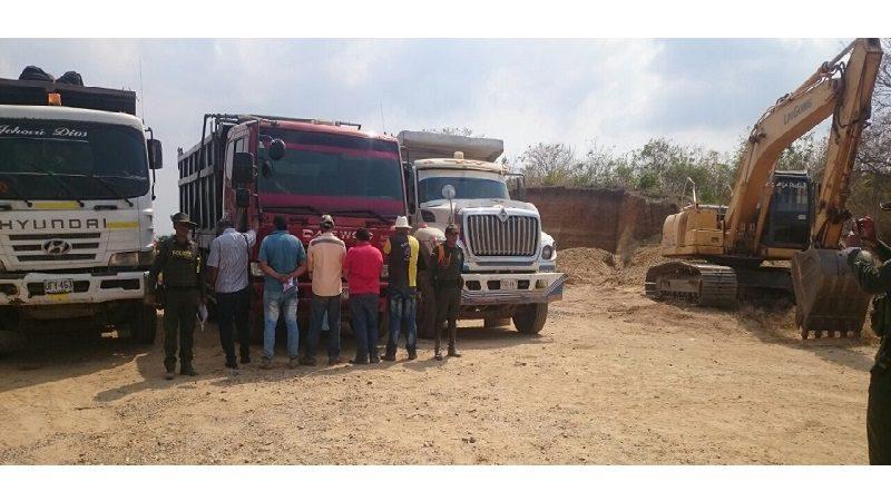Ofensiva contra la minería ilegal deja cinco capturados en Sabanalarga