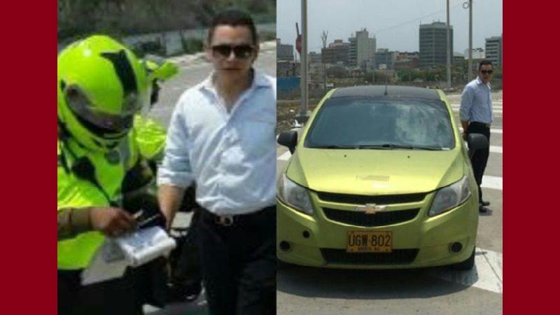 Abogado Hernando Zabaleta es sorprendido cometiendo infracciones de tránsito en Barranquilla