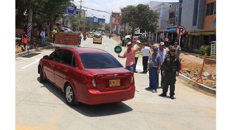 Alcaldía habilita tramo vehicular en la calle 76 entre carreras 45 y 44