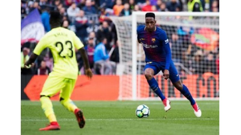 Barcelona empató 2-2 contra el Celta, Yerry Mina jugó todo el partido