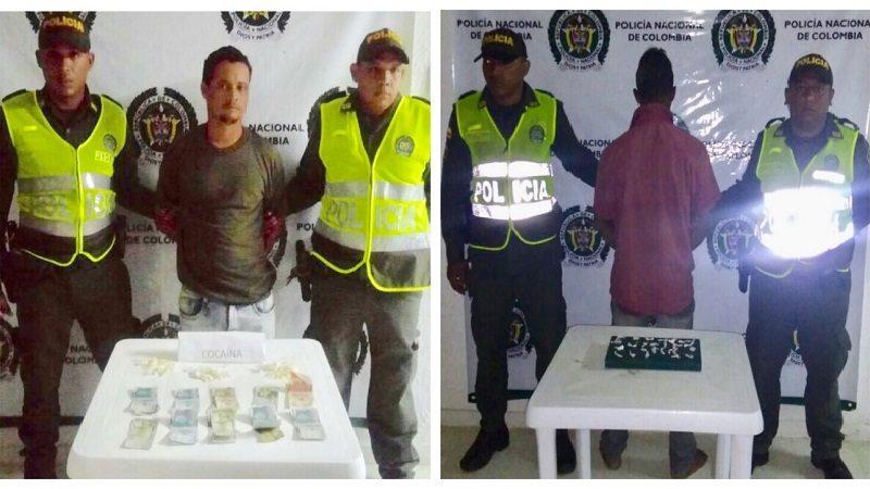 Caen dos hombres con cocaína en Piojó y Juan de Acosta, Atlántico