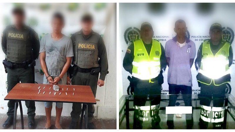 Caen dos vendedores de droga en Sabanagrande y Santo Tomás