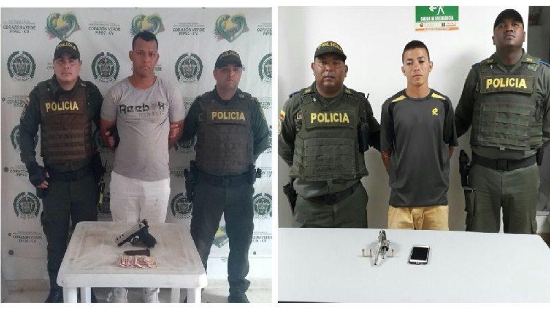 Capturan a dos atracadores en los barrios Rebolo y Santuario