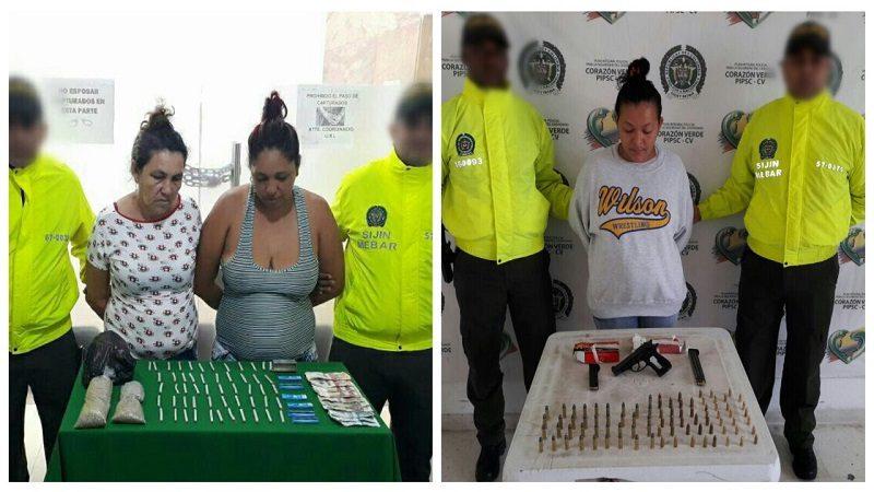 Capturan a tres mujeres por venta de droga en Rebolo y Soledad