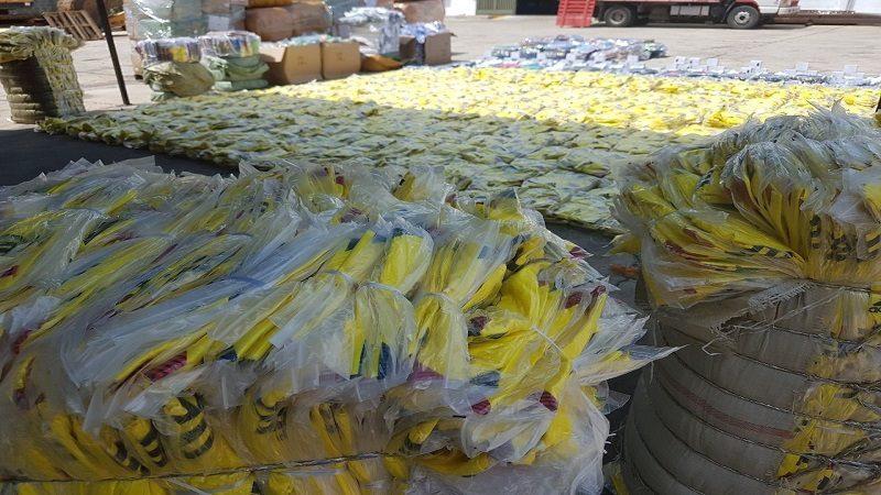Car cargamento de camisas de la selección Colombia, fabricadas en China