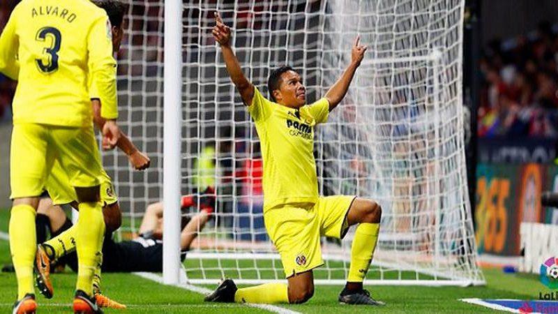 Carlos Bacca anotó un golazo en la victoria 2-0 del Villareal frente al Leganés