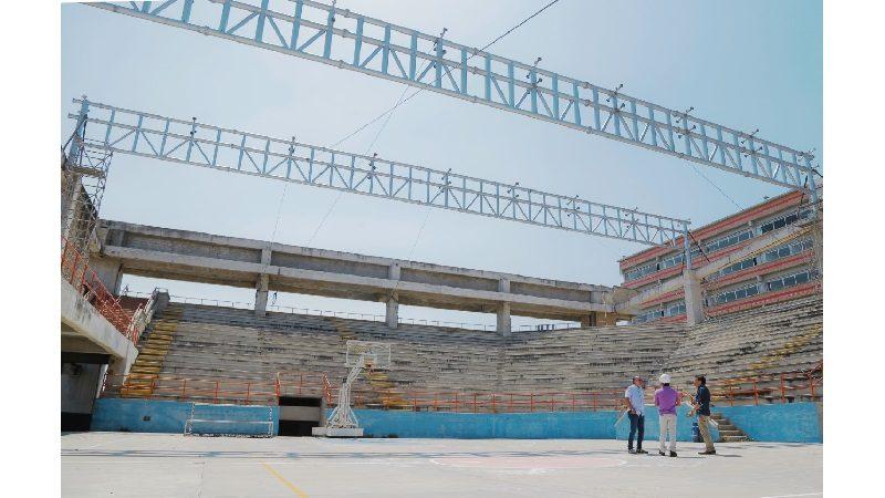 Comenzó instalación de cubierta del coliseo Chelo De Castro de Uniatlántico